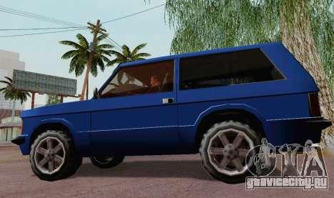 Huntley Coupe для GTA San Andreas вид сзади слева