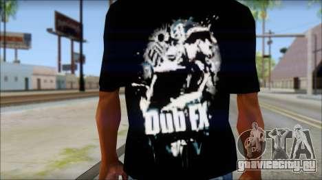 Dub Fx Fan T-Shirt v1 для GTA San Andreas третий скриншот