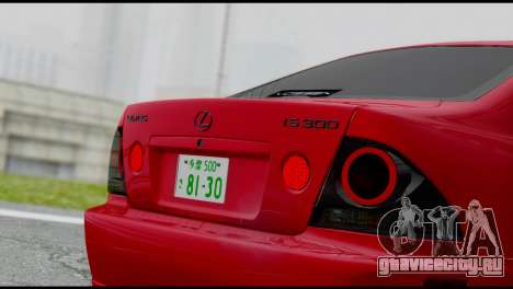 Lexus IS300 Vossen для GTA San Andreas вид справа