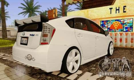 Toyota Prius Tunable для GTA San Andreas вид сбоку