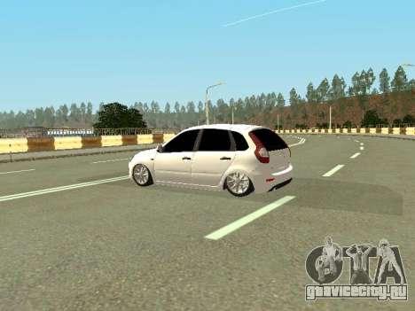 Lada Kalina 2 для GTA San Andreas вид сзади слева