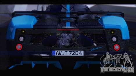 Pagani Zonda UNO для GTA San Andreas вид сзади