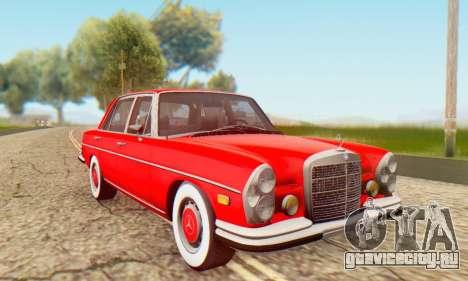Mercedes-Benz 300SEL Stock 1972 для GTA San Andreas