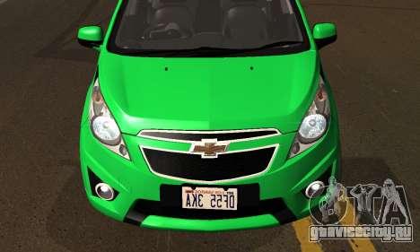 Chevrolet Spark 2011 для GTA San Andreas вид сбоку