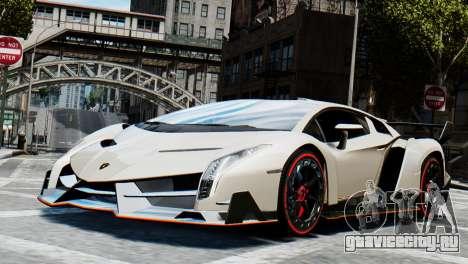 Lamborghini Veneno 2013 для GTA 4 вид сзади слева