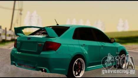 Subaru Impreza Stance Works для GTA San Andreas вид слева