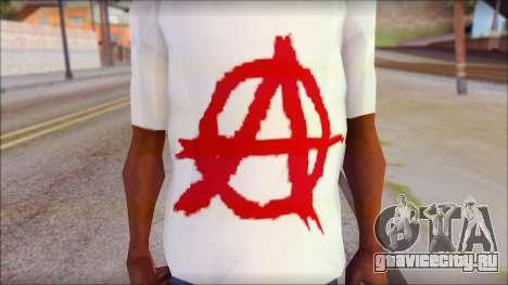 Anarchy T-Shirt v3 для GTA San Andreas третий скриншот