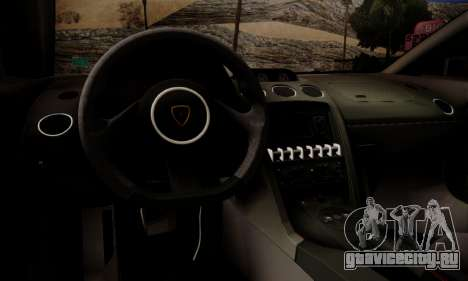 Lamborghini Gallardo LP 570-4 2011 Police v2 для GTA San Andreas двигатель