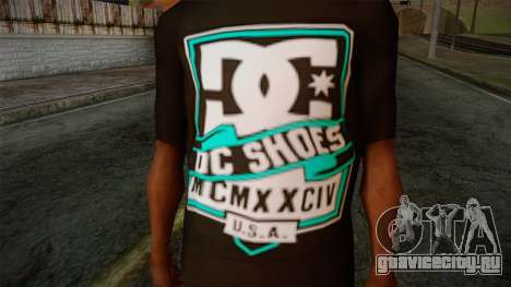 DC Shoes USA T-Shirt для GTA San Andreas третий скриншот