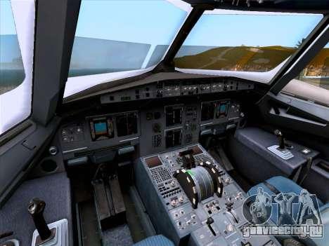 Airbus A320-214 Iberia для GTA San Andreas вид снизу