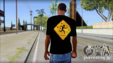 Running With Scissors T-Shirt для GTA San Andreas второй скриншот
