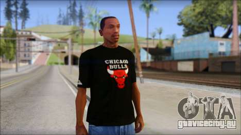 Chicago Bulls Black T-Shirt для GTA San Andreas