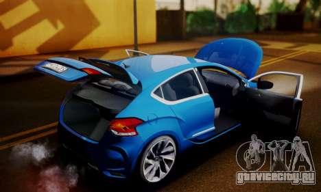 Citroen DS4 2012 для GTA San Andreas вид сзади