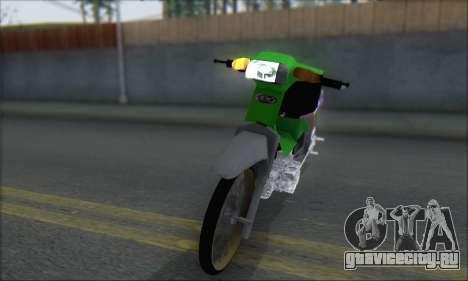 Kawasaki Kaze R для GTA San Andreas вид сзади слева