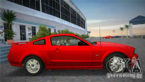 Ford Mustang GT 2005 для GTA Vice City вид сзади