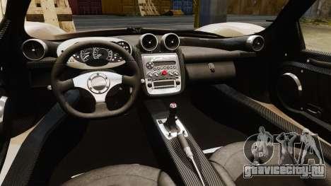 Pagani Zonda C12S Roadster 2001 v1.1 PJ1 для GTA 4 вид изнутри