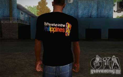 Its More Fun In Philippine T-Shirt для GTA San Andreas