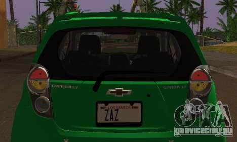 Chevrolet Spark 2011 для GTA San Andreas вид сверху