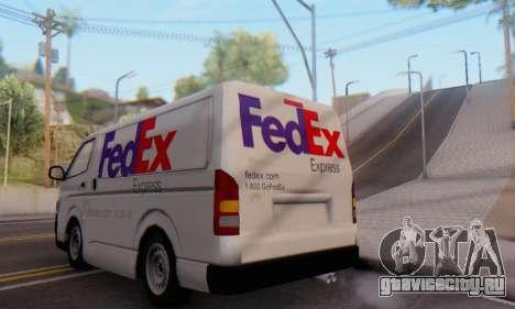 Toyota Hiace FedEx Cargo Van 2006 для GTA San Andreas вид справа