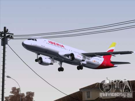 Airbus A320-214 Iberia для GTA San Andreas вид сверху