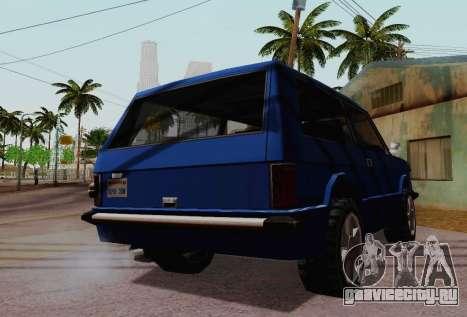 Huntley Coupe для GTA San Andreas вид изнутри
