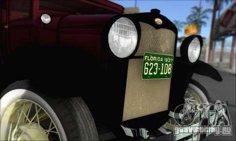 Ford A 1930 для GTA San Andreas вид справа