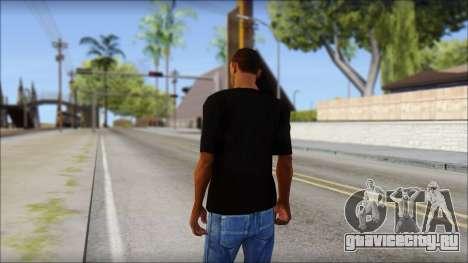 Chicago Bulls Black T-Shirt для GTA San Andreas второй скриншот