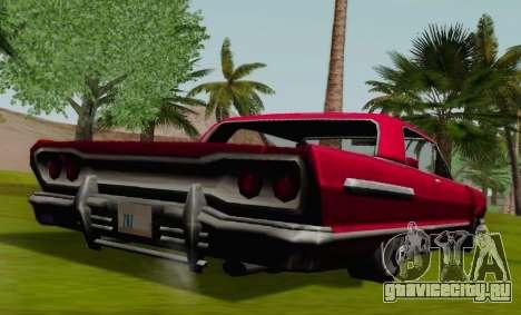 Savanna Coupe для GTA San Andreas вид сзади слева