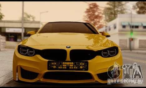 BMW M4 для GTA San Andreas вид сзади слева