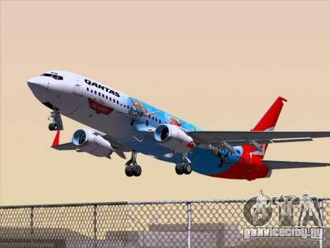 Boeing 737-800 Qantas для GTA San Andreas вид сбоку