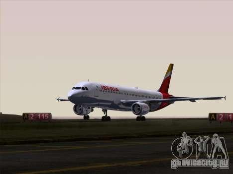 Airbus A320-214 Iberia для GTA San Andreas двигатель