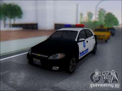 Chevrolet Lacetti Police для GTA San Andreas вид слева
