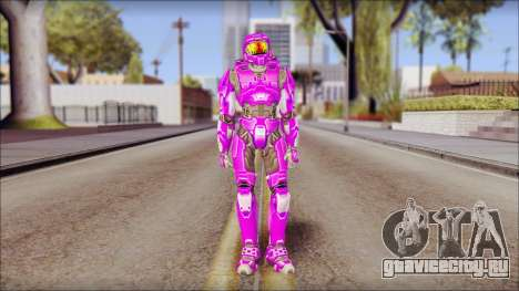 Masterchief Purple from Halo для GTA San Andreas