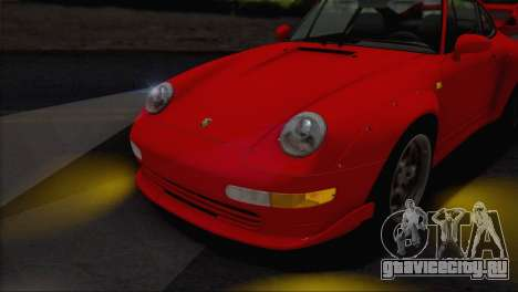 Porsche 911 GT2 (993) 1995 V1.0 EU Plate для GTA San Andreas вид сверху