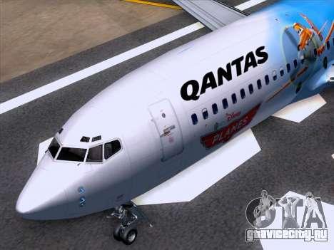 Boeing 737-800 Qantas для GTA San Andreas вид снизу