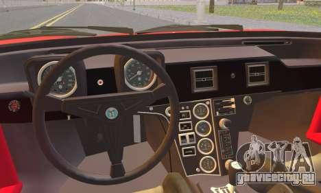 De Tomaso Pantera для GTA San Andreas вид сзади слева