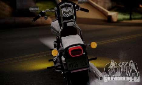 Harley-Davidson FXSTS Springer Softail для GTA San Andreas вид справа