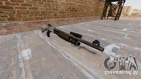 Ружьё Benelli M3 Super 90 skulls для GTA 4