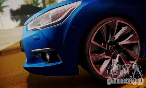 Citroen DS4 2012 для GTA San Andreas вид сзади слева