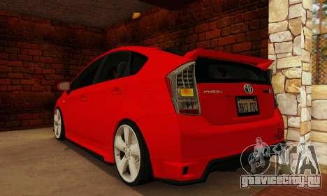 Toyota Prius Tunable для GTA San Andreas вид слева