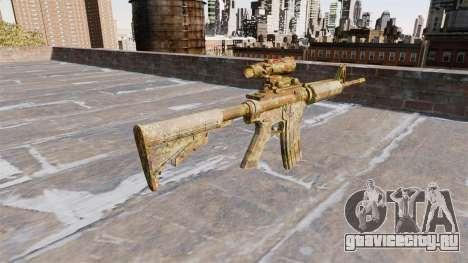 Автоматический карабин М4А1 Skol Camo для GTA 4 второй скриншот