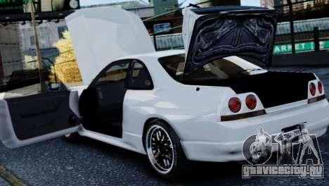 Nissan Skyline R33 1995 для GTA 4 вид сбоку