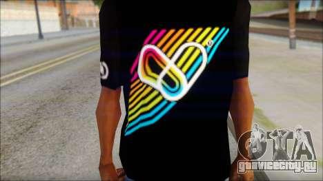 I Love Electro T-Shirt для GTA San Andreas третий скриншот