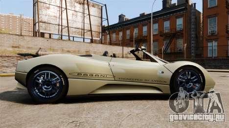 Pagani Zonda C12S Roadster 2001 v1.1 PJ1 для GTA 4 вид слева