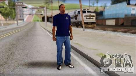 Blue Izod Lacoste Polo Shirt для GTA San Andreas третий скриншот