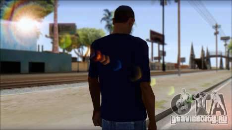 Blue Izod Lacoste Polo Shirt для GTA San Andreas второй скриншот