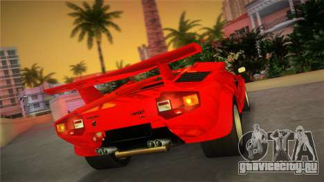 Lamborghini Countach LP5000 QV TT Custom для GTA Vice City вид слева