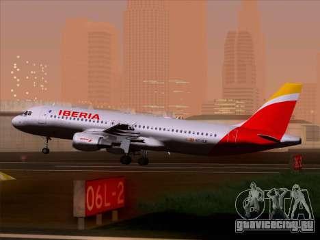 Airbus A320-214 Iberia для GTA San Andreas колёса