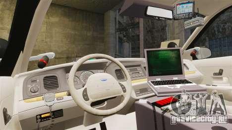 Ford Crown Victoria Sheriff [ELS] Unmarked для GTA 4 вид сзади