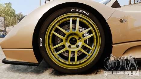 Pagani Zonda C12S Roadster 2001 v1.1 для GTA 4 вид сзади
